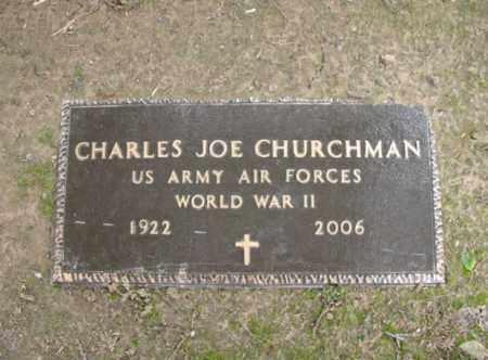 CHURCHMAN (VETERAN WWII), CHARLES JOE - Jackson County, Arkansas | CHARLES JOE CHURCHMAN (VETERAN WWII) - Arkansas Gravestone Photos