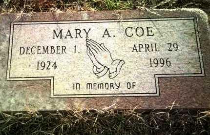 COE, MARY A - Jackson County, Arkansas | MARY A COE - Arkansas Gravestone Photos
