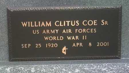 COE, SR (VETERAN WWII), WILLIAM CLITUS - Jackson County, Arkansas | WILLIAM CLITUS COE, SR (VETERAN WWII) - Arkansas Gravestone Photos