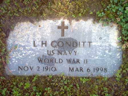 CONDITT (VETERAN WWII), L H - Jackson County, Arkansas | L H CONDITT (VETERAN WWII) - Arkansas Gravestone Photos