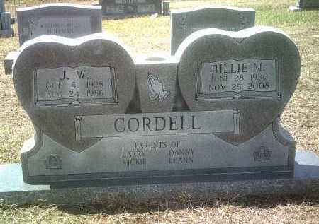 CORDELL, BILLIE M - Jackson County, Arkansas | BILLIE M CORDELL - Arkansas Gravestone Photos