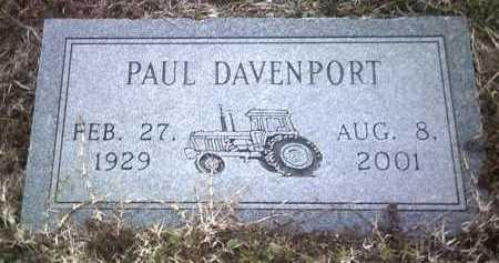 DAVENPORT, PAUL - Jackson County, Arkansas | PAUL DAVENPORT - Arkansas Gravestone Photos