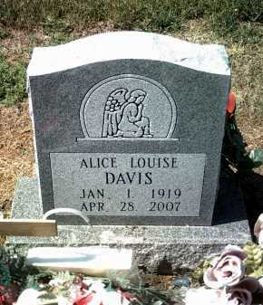 DAVIS, ALICE LOUISE - Jackson County, Arkansas | ALICE LOUISE DAVIS - Arkansas Gravestone Photos