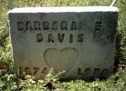 DAVIS, BARBARA E - Jackson County, Arkansas   BARBARA E DAVIS - Arkansas Gravestone Photos