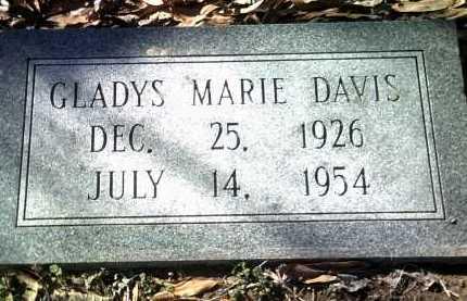 DAVIS, GLADYS MARIE - Jackson County, Arkansas   GLADYS MARIE DAVIS - Arkansas Gravestone Photos