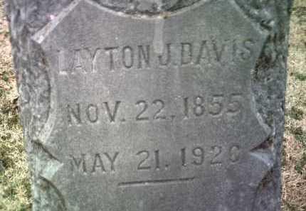 DAVIS , LAYTON J (CLOSEUP) - Jackson County, Arkansas | LAYTON J (CLOSEUP) DAVIS  - Arkansas Gravestone Photos