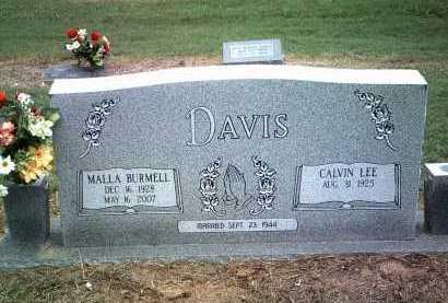 DAVIS, MALLA BURMELL - Jackson County, Arkansas | MALLA BURMELL DAVIS - Arkansas Gravestone Photos