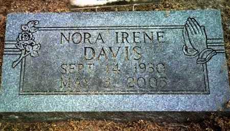 DAVIS, NORA IRENE - Jackson County, Arkansas | NORA IRENE DAVIS - Arkansas Gravestone Photos