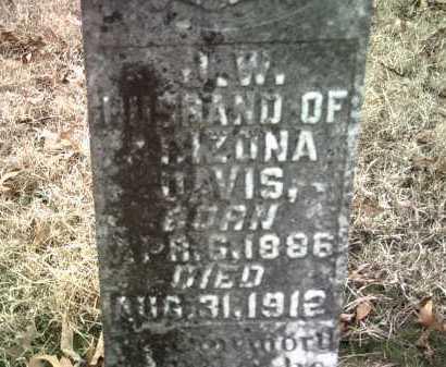 DAVIS , J W (CLOSEUP) - Jackson County, Arkansas | J W (CLOSEUP) DAVIS  - Arkansas Gravestone Photos