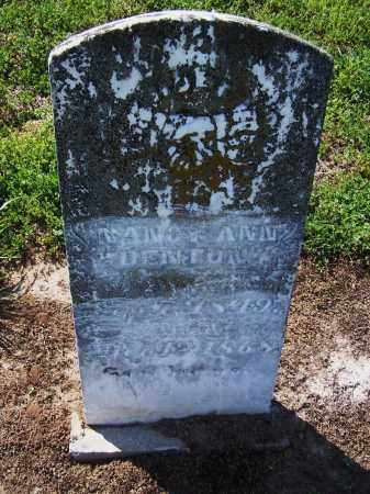 DENTON, NANCY ANN - Jackson County, Arkansas | NANCY ANN DENTON - Arkansas Gravestone Photos