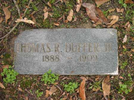 DUFFER, JR, THOMAS R - Jackson County, Arkansas   THOMAS R DUFFER, JR - Arkansas Gravestone Photos