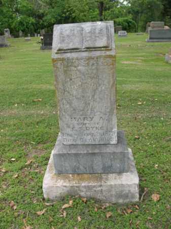 DYKE, MARY A - Jackson County, Arkansas   MARY A DYKE - Arkansas Gravestone Photos