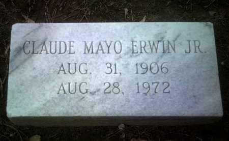 ERWIN, JR, CLAUDE MAYO - Jackson County, Arkansas | CLAUDE MAYO ERWIN, JR - Arkansas Gravestone Photos