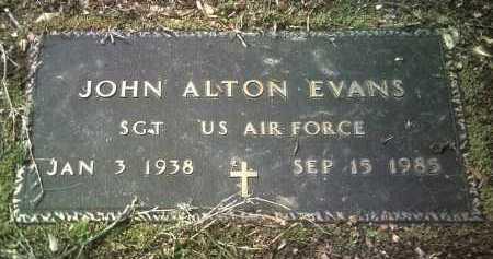 EVANS (VETERAN), JOHN ALTON - Jackson County, Arkansas | JOHN ALTON EVANS (VETERAN) - Arkansas Gravestone Photos