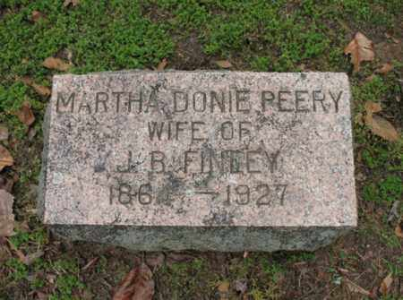 PEERY FINLEY, MARTHA DONIE - Jackson County, Arkansas | MARTHA DONIE PEERY FINLEY - Arkansas Gravestone Photos