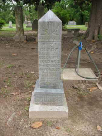 FOUSHEE, ELZA CLYDE - Jackson County, Arkansas   ELZA CLYDE FOUSHEE - Arkansas Gravestone Photos