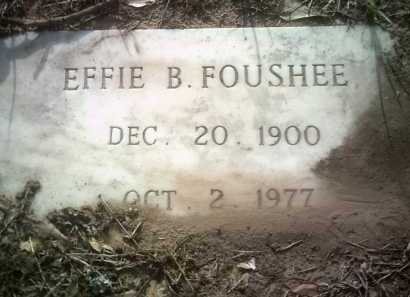 FOUSHEE, EFFIE B - Jackson County, Arkansas | EFFIE B FOUSHEE - Arkansas Gravestone Photos