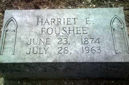 FOUSHEE, HARRIET E - Jackson County, Arkansas | HARRIET E FOUSHEE - Arkansas Gravestone Photos