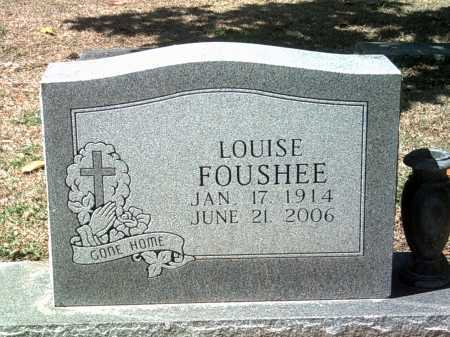 FOUSHEE, LOUISE - Jackson County, Arkansas | LOUISE FOUSHEE - Arkansas Gravestone Photos