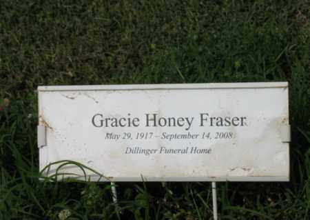 HONEY FRASER, GRACIE - Jackson County, Arkansas | GRACIE HONEY FRASER - Arkansas Gravestone Photos