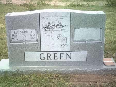 GREEN, LEONARD A - Jackson County, Arkansas   LEONARD A GREEN - Arkansas Gravestone Photos