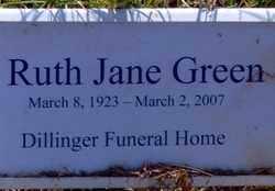 GREEN, RUTH JANE - Jackson County, Arkansas   RUTH JANE GREEN - Arkansas Gravestone Photos