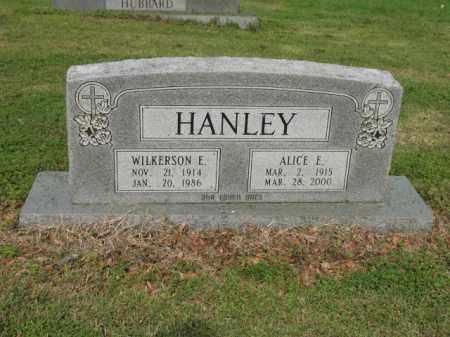 HANLEY, ALICE E - Jackson County, Arkansas   ALICE E HANLEY - Arkansas Gravestone Photos