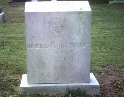 HARDISTER, MINERVA T - Jackson County, Arkansas | MINERVA T HARDISTER - Arkansas Gravestone Photos