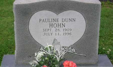 DUNN HOHN, PAULINE - Jackson County, Arkansas | PAULINE DUNN HOHN - Arkansas Gravestone Photos