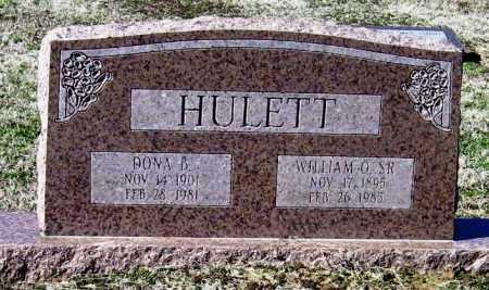 HULETT, SR, WILLIAM O - Jackson County, Arkansas | WILLIAM O HULETT, SR - Arkansas Gravestone Photos