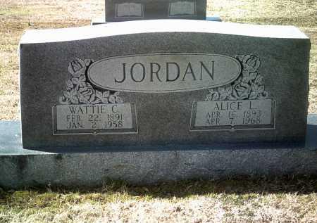 JORDAN, SR, WATTIE C - Jackson County, Arkansas   WATTIE C JORDAN, SR - Arkansas Gravestone Photos