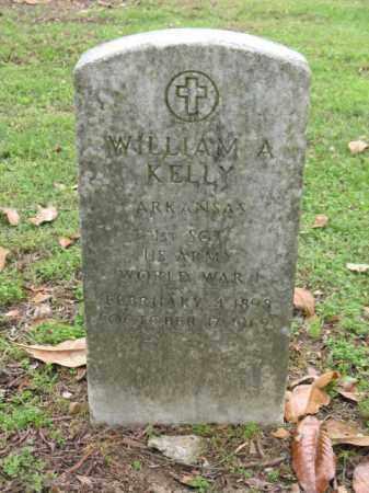 KELLY (VETERAN WWI), WILLIAM A - Jackson County, Arkansas   WILLIAM A KELLY (VETERAN WWI) - Arkansas Gravestone Photos