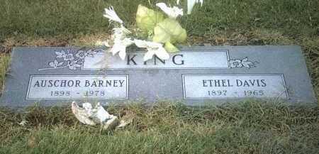 KING, AUSCHOR BARNEY - Jackson County, Arkansas   AUSCHOR BARNEY KING - Arkansas Gravestone Photos