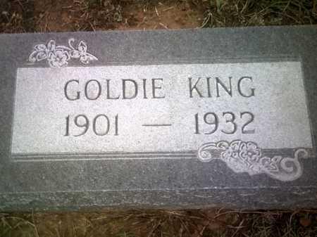 KING, GOLDIE - Jackson County, Arkansas | GOLDIE KING - Arkansas Gravestone Photos