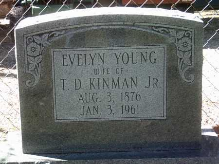 KINMAN, EVELYN - Jackson County, Arkansas | EVELYN KINMAN - Arkansas Gravestone Photos