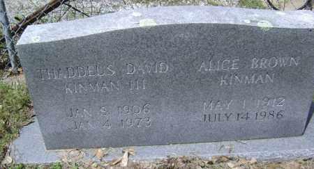 KINMAN, ALICE - Jackson County, Arkansas | ALICE KINMAN - Arkansas Gravestone Photos