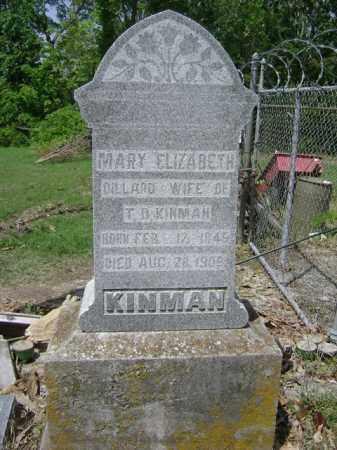 KINMAN, MARY ELIZABETH - Jackson County, Arkansas | MARY ELIZABETH KINMAN - Arkansas Gravestone Photos