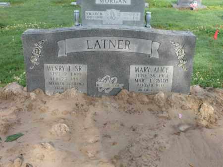 LATNER, MARY ALICE - Jackson County, Arkansas | MARY ALICE LATNER - Arkansas Gravestone Photos
