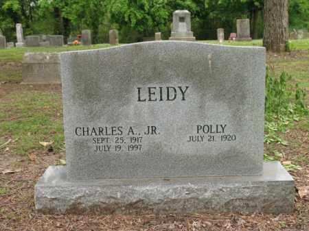 LEIDY, JR, CHARLES A - Jackson County, Arkansas | CHARLES A LEIDY, JR - Arkansas Gravestone Photos