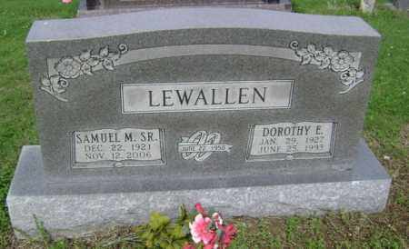 LEWALLEN, DOROTHY E - Jackson County, Arkansas | DOROTHY E LEWALLEN - Arkansas Gravestone Photos
