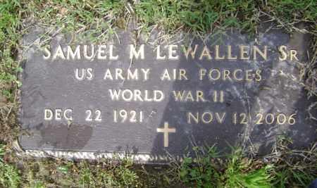 LEWALLEN, SR (VETERAN WWII), SAMUEL M - Jackson County, Arkansas | SAMUEL M LEWALLEN, SR (VETERAN WWII) - Arkansas Gravestone Photos