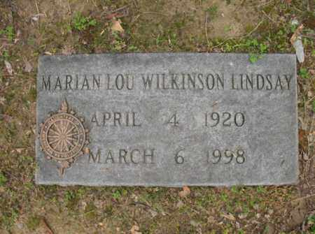 WILKINSON LINDSAY, MARION LOU - Jackson County, Arkansas | MARION LOU WILKINSON LINDSAY - Arkansas Gravestone Photos