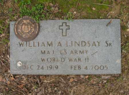 LINDSAY, SR (VETERAN WWII), WILLIAM A - Jackson County, Arkansas | WILLIAM A LINDSAY, SR (VETERAN WWII) - Arkansas Gravestone Photos