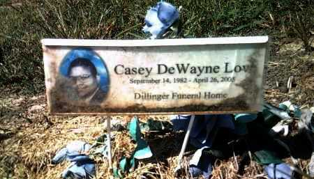 LOVE, CASEY DEWAYNE - Jackson County, Arkansas | CASEY DEWAYNE LOVE - Arkansas Gravestone Photos