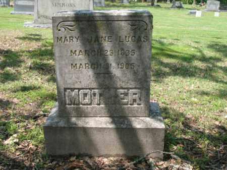 LUCAS, MARY JANE - Jackson County, Arkansas | MARY JANE LUCAS - Arkansas Gravestone Photos