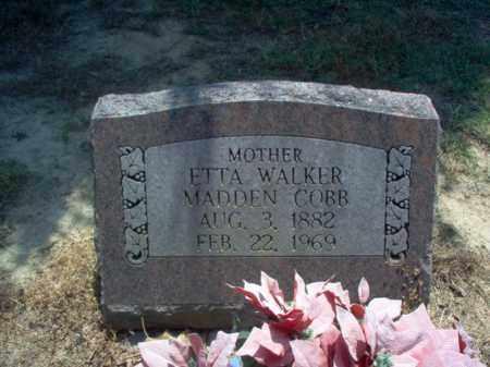 WALKER MADDEN-COBB, ETTA - Jackson County, Arkansas | ETTA WALKER MADDEN-COBB - Arkansas Gravestone Photos