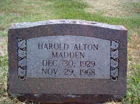 MADDEN, HAROLD ALTON - Jackson County, Arkansas | HAROLD ALTON MADDEN - Arkansas Gravestone Photos