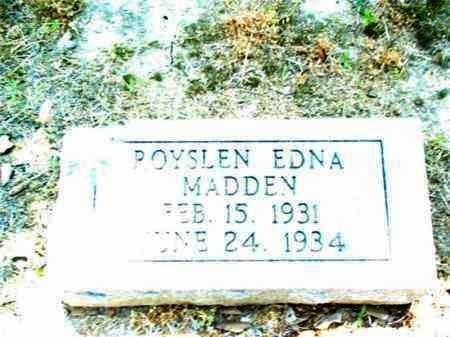 MADDEN, ROYSLEN EDNA - Jackson County, Arkansas | ROYSLEN EDNA MADDEN - Arkansas Gravestone Photos