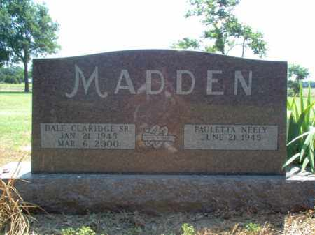 MADDEN, SR., DALE CLARIDGE - Jackson County, Arkansas | DALE CLARIDGE MADDEN, SR. - Arkansas Gravestone Photos