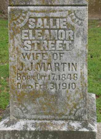 STREET MARTIN, SALLIE ELEANOR - Jackson County, Arkansas | SALLIE ELEANOR STREET MARTIN - Arkansas Gravestone Photos
